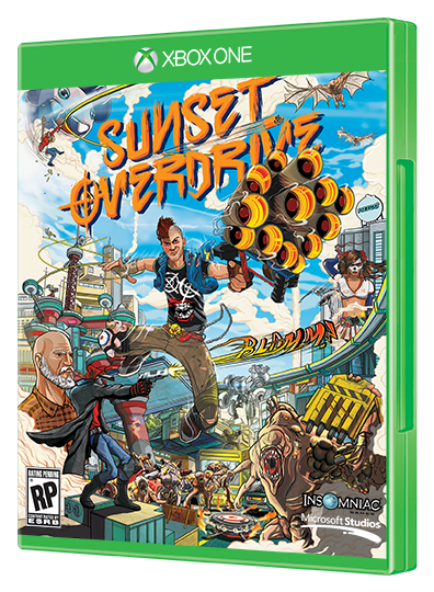 sunset overdrive box art by ilovedust insomniac games sunset boxart