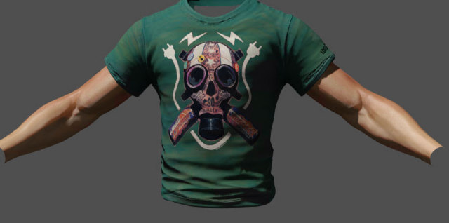 Exclusive Insomniac Games Developer shirt. In-game vanity item.