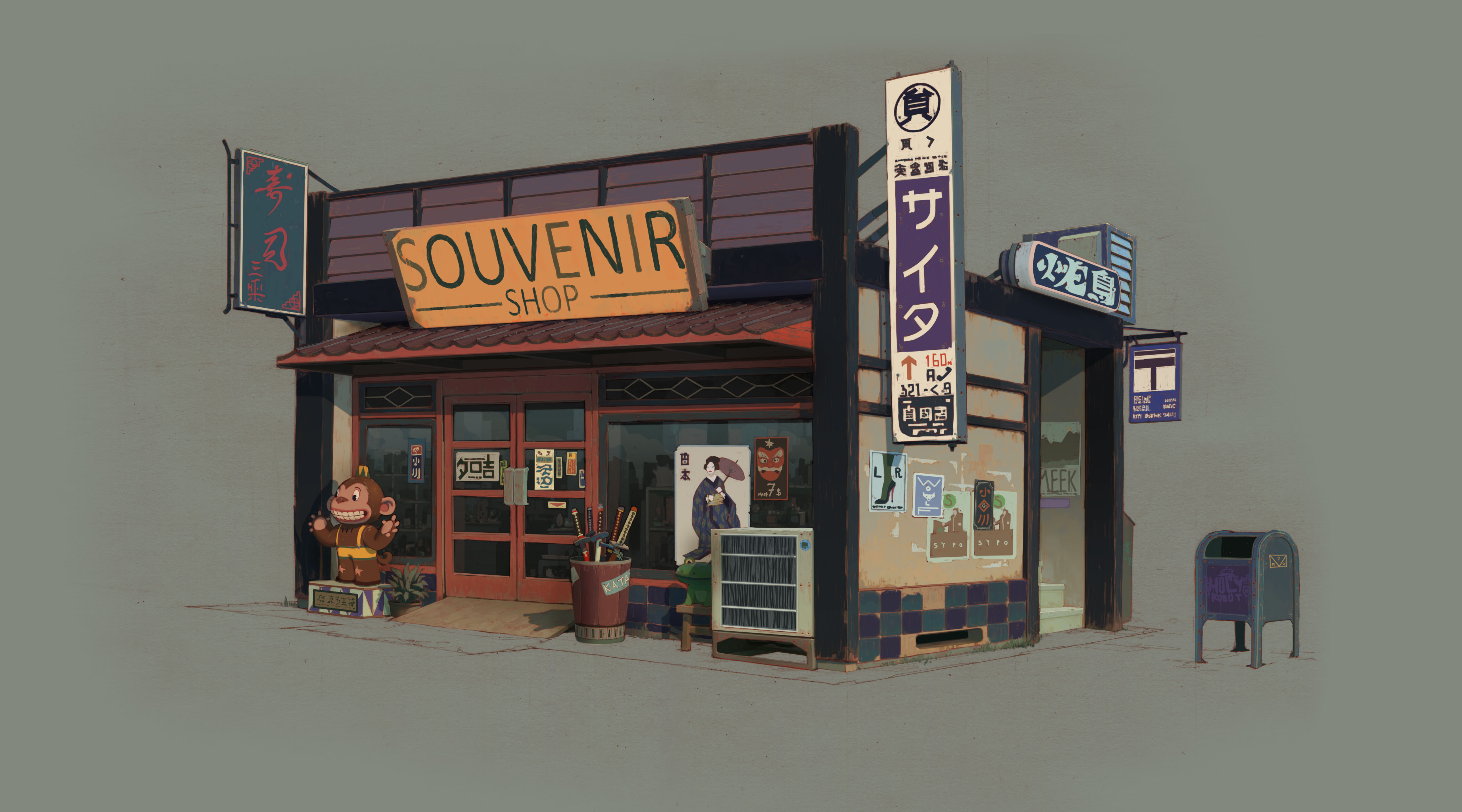 Sunset Overdrive Souvenir Shop by Vasili Zorin